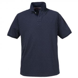 15ebd9413f61e1 Bequemes Poloshirt mit Allover-Print dunkelblau_403 | 3XL.  Productbild-dunkelblau. Tommy Hilfiger