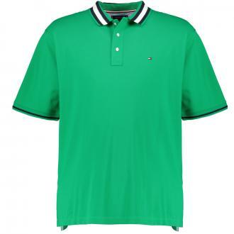 Pique-Poloshirt mit kontrastfarbenem Kragen, kurzarm grün_LGY | 3XL