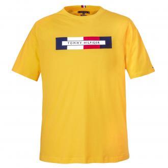 T-Shirt mit Frontflock Tommy Hilfiger gelb_ZCM   3XL