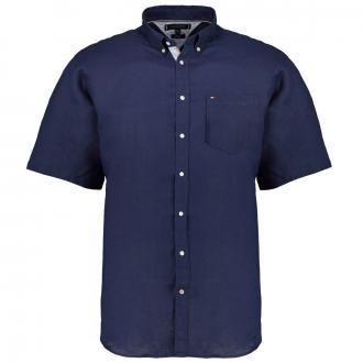 Leinen Freizeithemd dunkelblau_C7H | 3XL