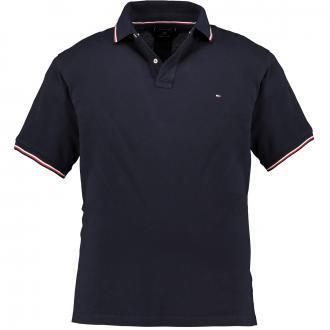 Poloshirt mit Kontrastdetails, kurzarm marine_DW5 | 3XL