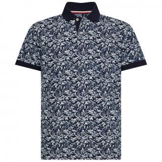 Poloshirt mit floralem Allover-Print marine_DW5 | 3XL