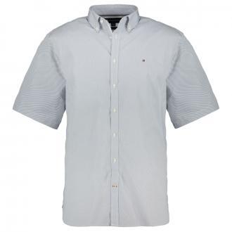 Modisches Kurzarmhemd mit Allover-Print blau_0GY   3XL