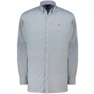 Baumwollhemd  dezent gemustert, langarm blau_0GY | 3XL