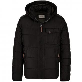 Wattierte Winterjacke mit Wetterschutz schwarz_09 | 62