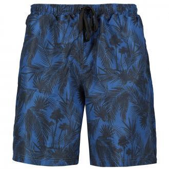 Badeshort mit Palmenprint blau/dunkelblau_909 | 3XL