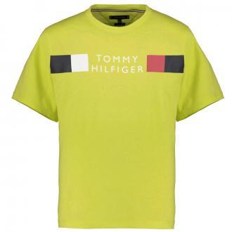 Baumwoll-T-Shirt mit Tommy Hilfiger Schriftzug gelb_LRE | 3XL
