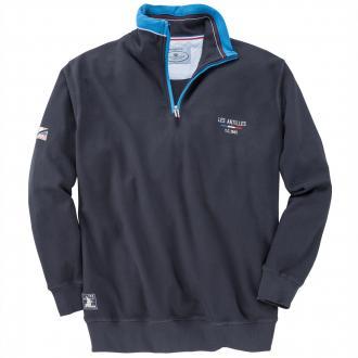 Piqué-Sweatshirt aus reiner Baumwolle marine_547 | 5XL