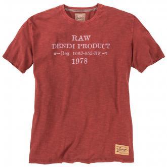 Vintage-Shirt mit Schriftzug rot_846 | 3XL