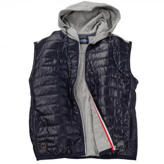 Steppweste mit Sweatkapuze blau/grau_890 | 3XL
