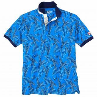 Modisches Poloshirt mit Palmen-Muster azur_859 | 3XL