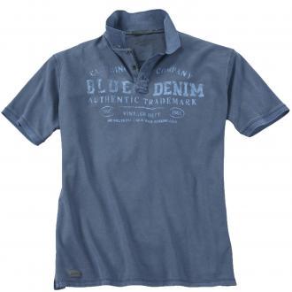 Poloshirt im Vintage-Style blau_858 | 6XL