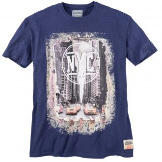 "T-Shirt mit ""New-York-City""-Print, kurzarm dunkelblau_1890 