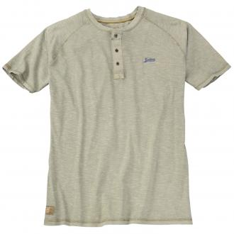T-Shirt mit Knopfleiste im Vintage-Look khaki_231 | 8XL