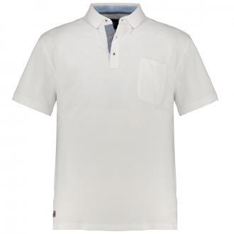 Poloshirt mit Brusttasche, kurzarm weiß_16 | 3XL