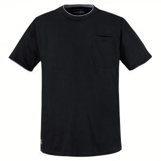 Cooles T-Shirt in moderner 2-Lagen-Optik schwarz_15 | 3XL