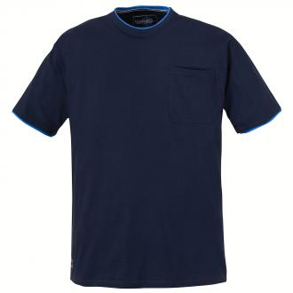 Cooles T-Shirt in moderner 2-Lagen-Optik dunkelblau_5470   3XL