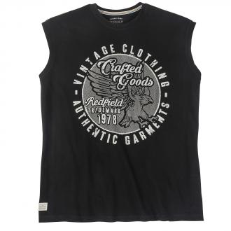 "Trendiges tanktop T-Shirt mit Frontprint ""Crafted Goods"" schwarz_15 