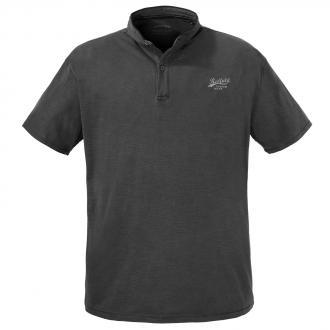 T-Shirt mit Serafinokragen und spezieller Färbung schwarz_15 | 3XL