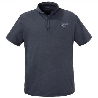 T-Shirt mit Serafinokragen und spezieller Färbung jeansblau_189   5XL