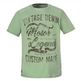 "T-Shirt ""Vintage Denim"" Frontprint hellgrün_232 | 7XL"