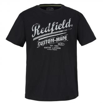 """T-Shirt mit """"Redfield""""-Frontprint schwarz_15   3XL"""