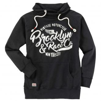 "Legeres Sweatshirt mit ""Brooklyn & RaceCo.""Vintage-Print schwarz_15 | 4XL"