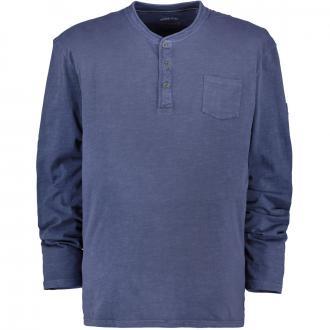 T-Shirt im Vintage-Look, langarm dunkelblau_189/400 | 3XL