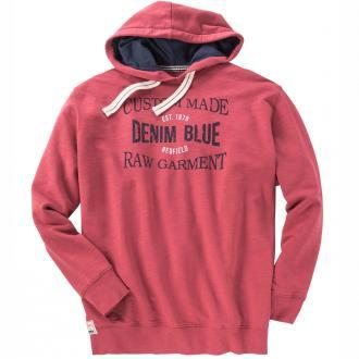 Sweatshirt mit Druck und Kapuze rot_846 | 3XL