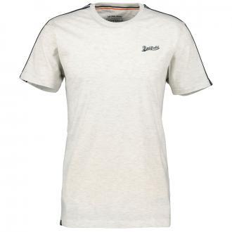 Baumwoll-T-Shirt mit betonter Schulterpartie, kurzarm hellgrau_876 | 3XL
