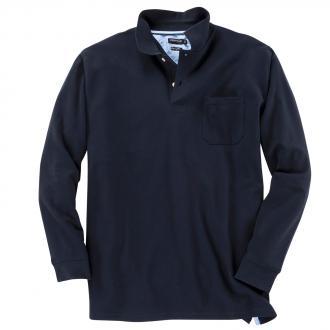Pique-Langarm-Poloshirt marine_1 | 6XL