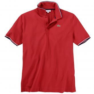 Sportliches Poloshirt mit farblichen Akzenten, kurzarm rot_2RG   3XL