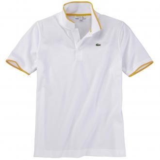 Poloshirt mit farblichen Akzenten, kurzarm weiß_PMH | 4XL