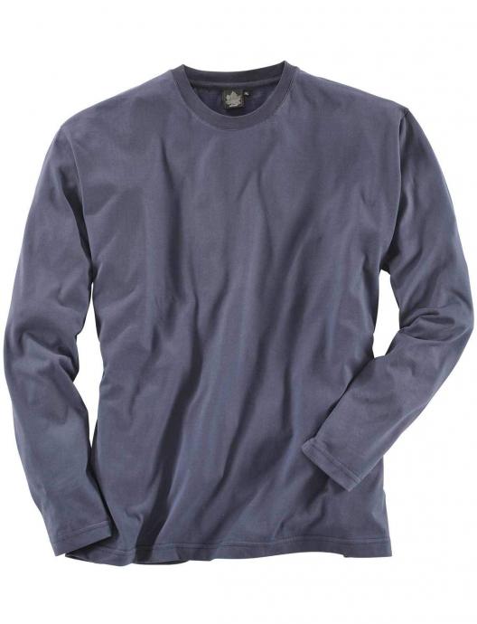 Basic Langarm-Shirt dunkelblau_544 | 3XL