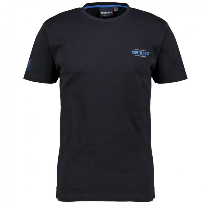 Sportives T-Shirt mit Logo Print schwarz_099 | 10XL