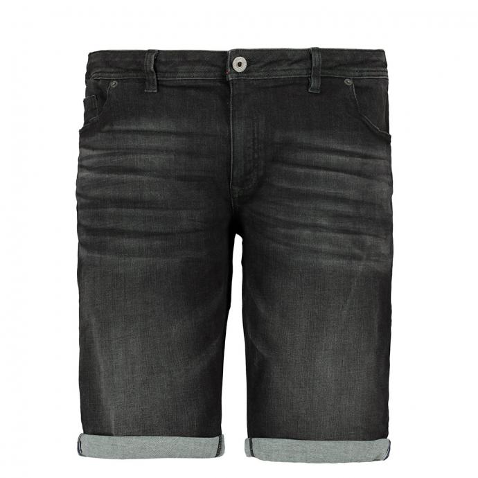 Kurze Stretchjeans mit Waschung schwarz_0098 | W44