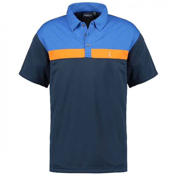 Funktion-Poloshirt in Blocking-Colour-Optik, kurzarm dunkelblau_0580   3XL