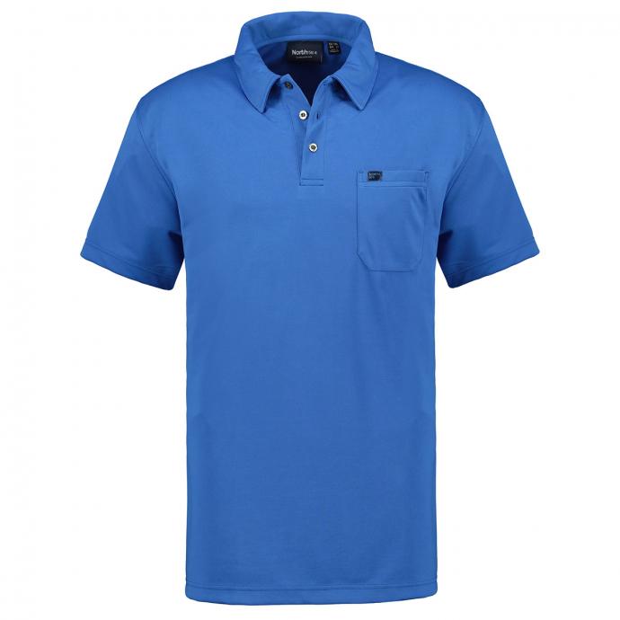 Funktions-Poloshirt mit Brusttasche, kurzarm kornblau_0545 | 4XL