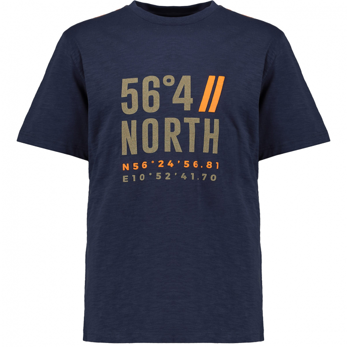 "T-Shirt mit ""56°4""-Beflockung dunkelblau_0580 | 3XL"