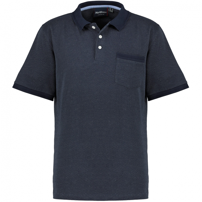 Poloshirt aus Baumwolle dunkelblau_0580 | 3XL