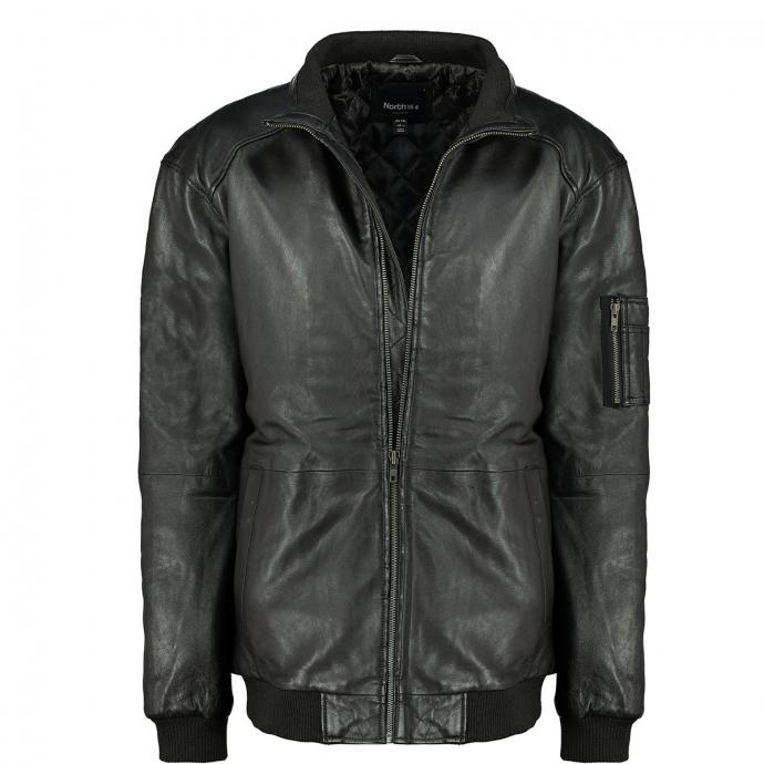 Lederjacke in Blousonform schwarz_0099   3XL