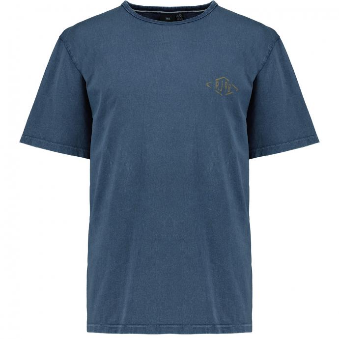 "T-Shirt mit ""THE DENIM WORKERS"" Rückenprint mittelblau_0585 | 3XL"