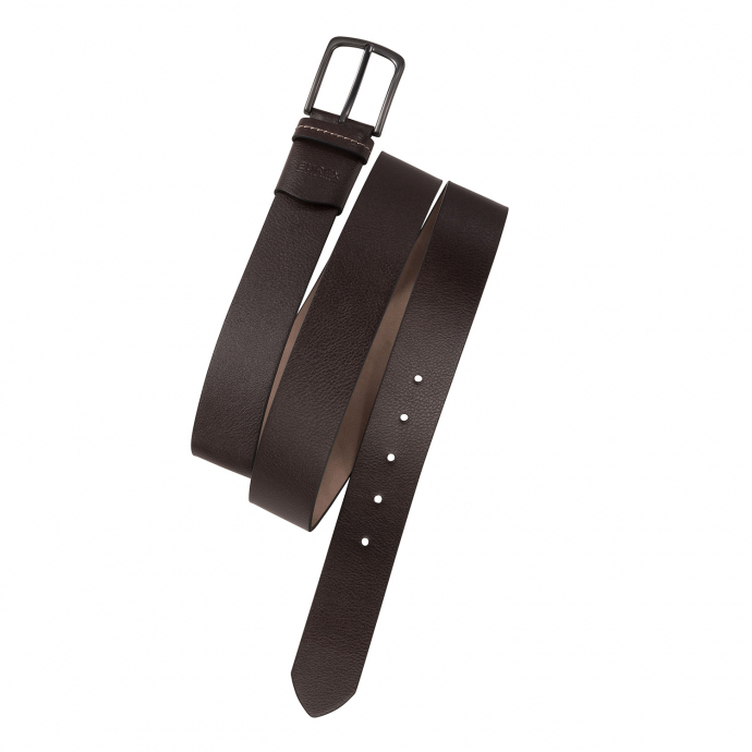Komfortabler Ledergürtel mit Elastik-Einsatz dunkelbraun_52 | 125
