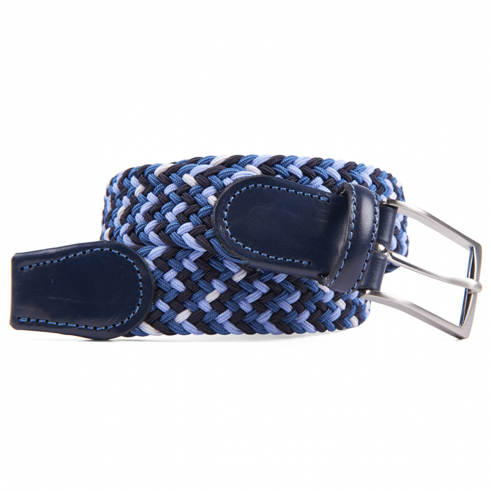 Stretch-Gürtel mit Flechtmuster blau/dunkelblau_900 | 130