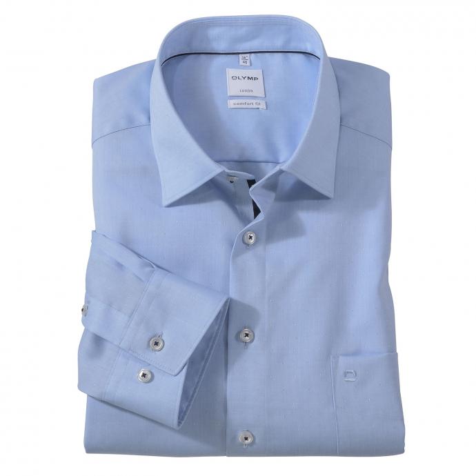 Bügelfreies modernes City Hemd, langarm blau_11 | 48