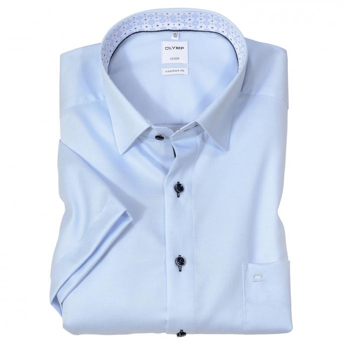 Schickes, bügelfreies Cityhemd mit Kontrastdetails, kurzarm hellblau_111   50