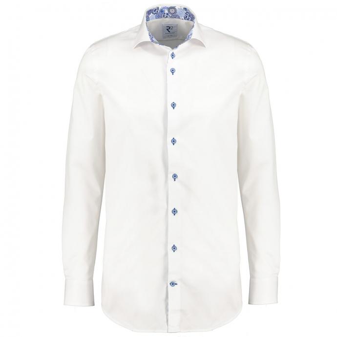 Modisches Langarmhemd mit Haifischkragen und bedrucktem Ausputz weiß_004 | 3XL