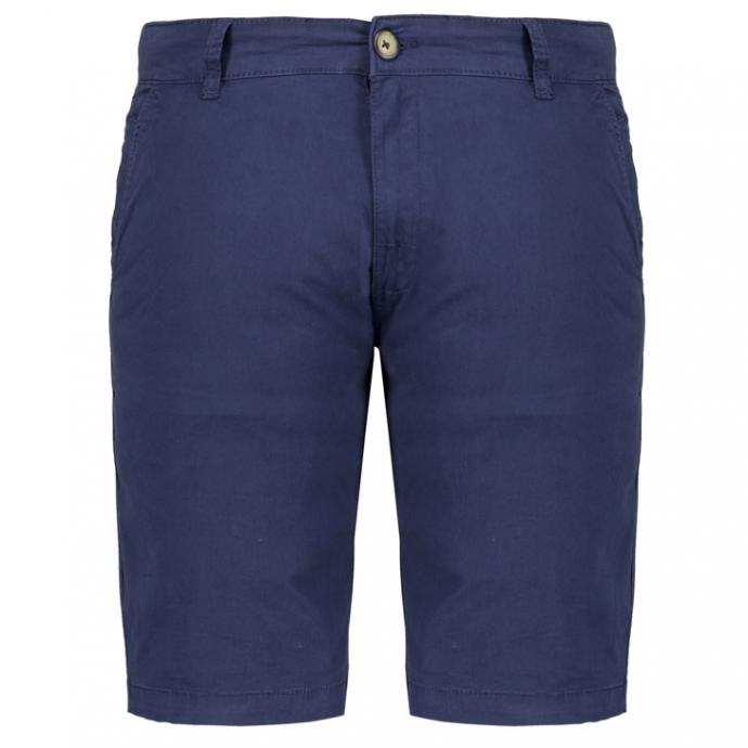Gerade geschnittene Chino-Short mit Stretch-Anteil dunkelblau_0580 | W46