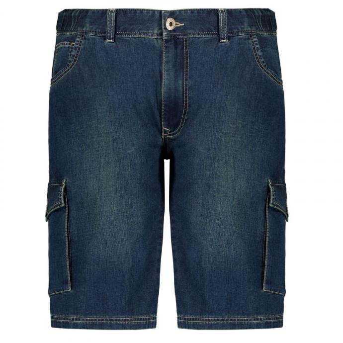 Bequeme Jeans-Cargo-Bermudashort jeansblau_0597   3XL