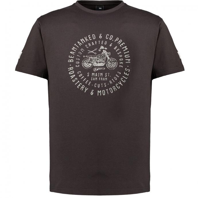 Lässiges Kurzarm T-Shirt mit Motorrad Print schwarz_0099   6XL